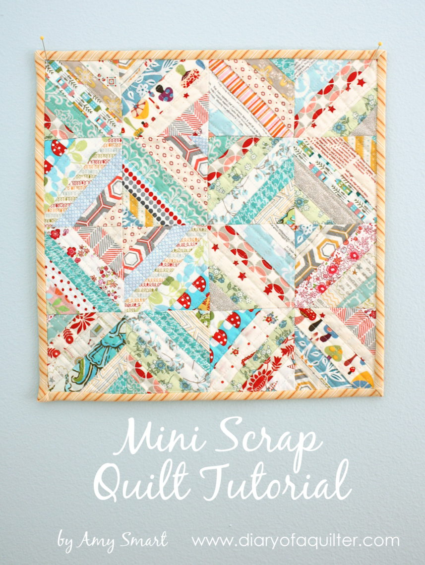 Easy Scrap fabric quilt block - Diary of a Quilter - a ...