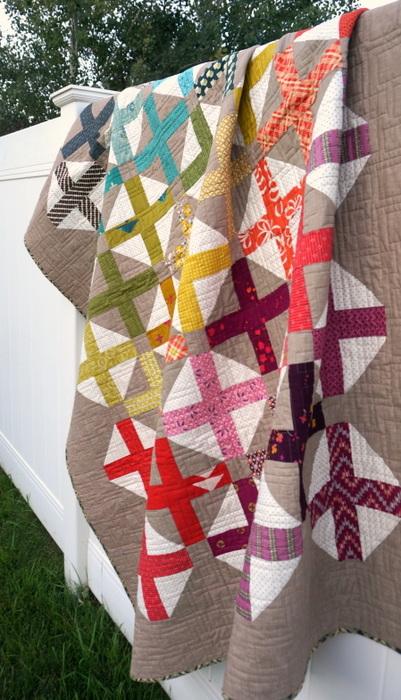 spectrum cross quilt
