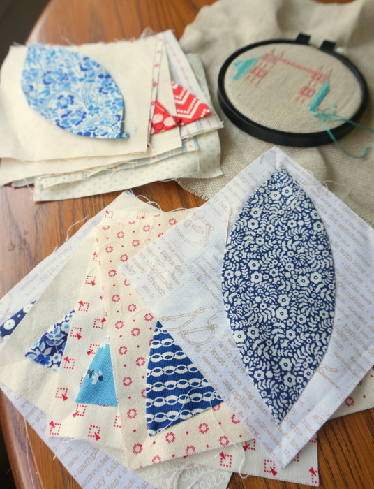 summer hand sewing