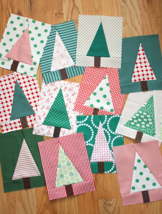 Modern christmas tree quilt block tutorial diary of a for Modern house quilt block