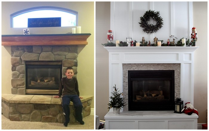 Fireplace Mantle Redo In Time For Christmas Diary Of A