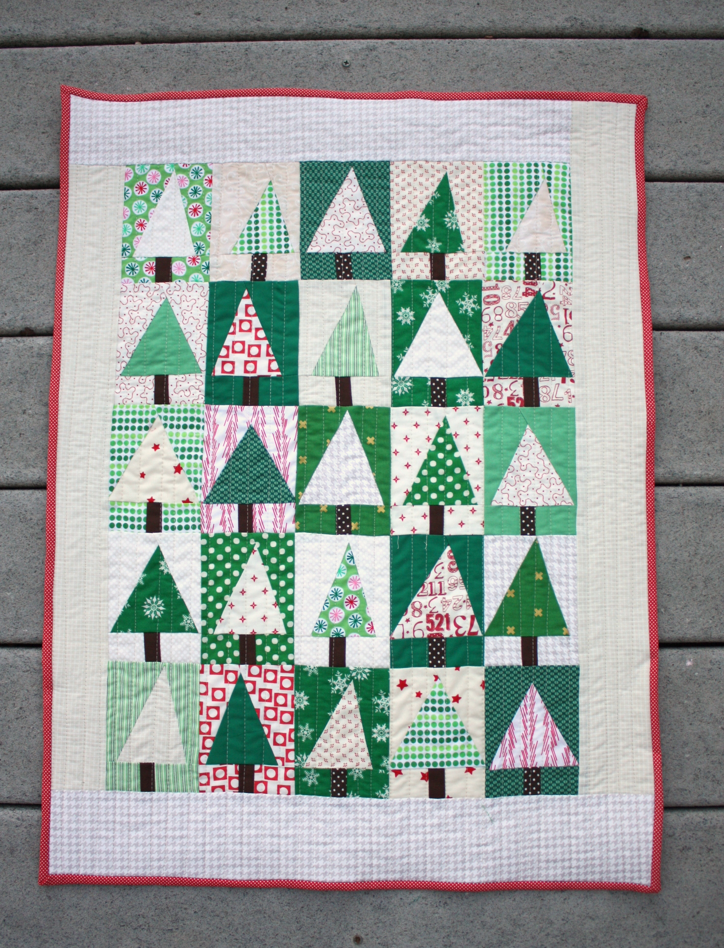 Modern Christmas Tree Quilt Block Tutorial Diary Of A