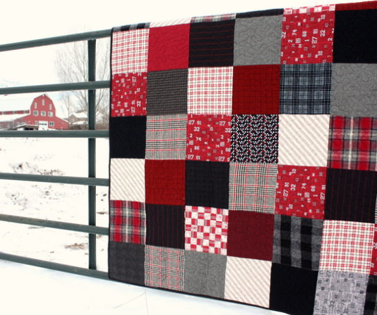 flannel patchwork black and red plaids