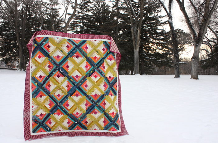 Blaze Log Cabin Quilt Amy Smart