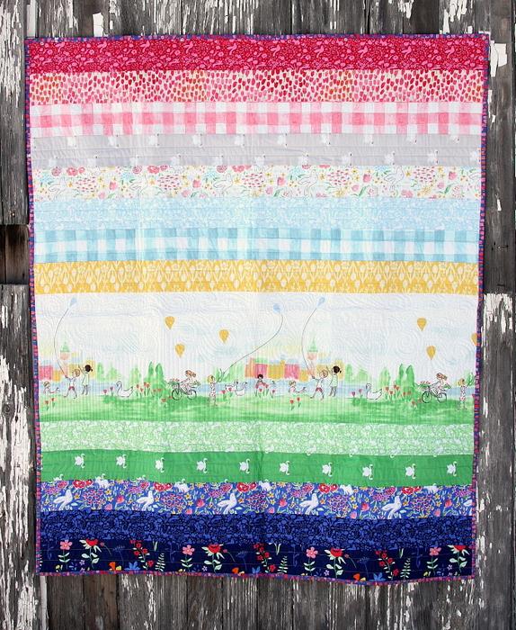 Sommer Stripes quilt-001