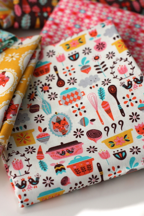 Vintage Kitchen main dishes fabric