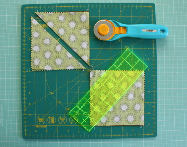 ruler and rotary cutter
