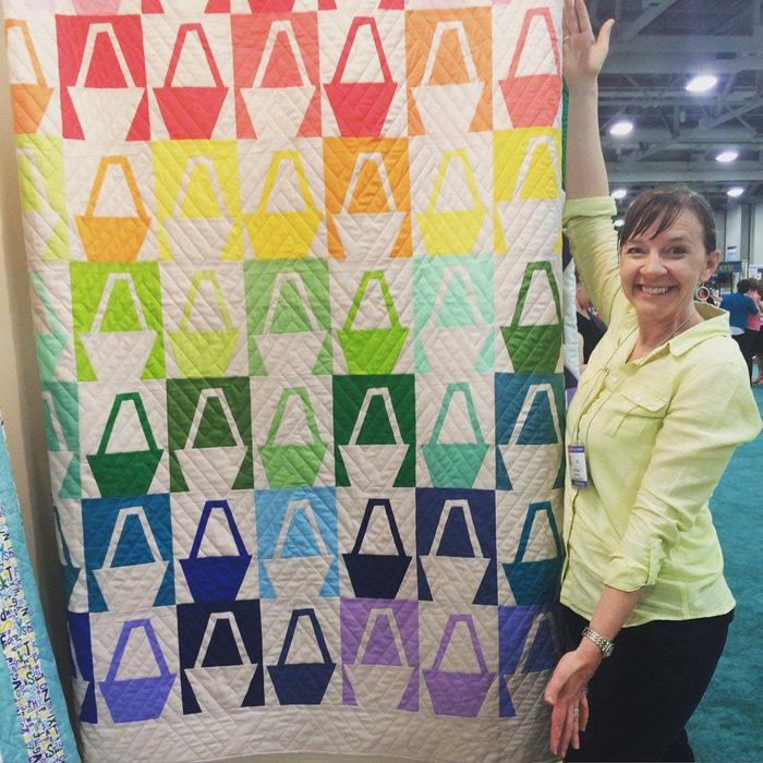 Amy Smart Solids Basket quilt pattern