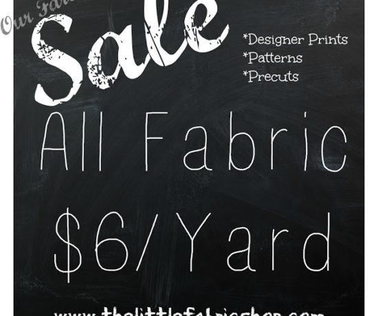 huge fabric sale