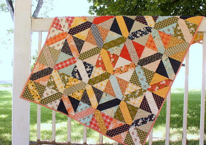Amy Smart Crosshatch quilt