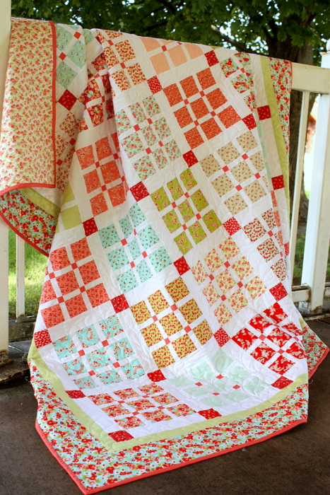 Bonnie and Camille Little Ruby Basketweave Quilt