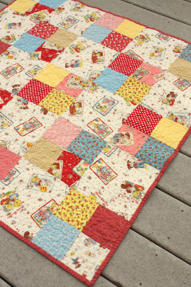 Simple Four Patch Baby Quilt