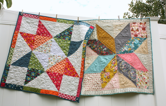 Easy DIY modern Star Baby quilt tutorial