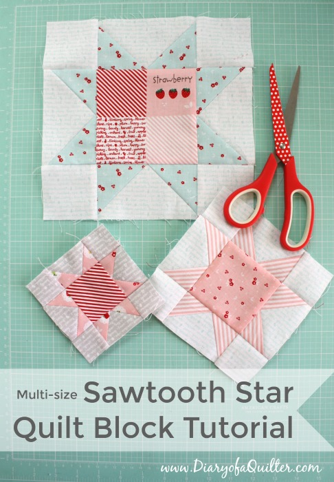 Fast Flying Geese Sawtooth Star Tutorial