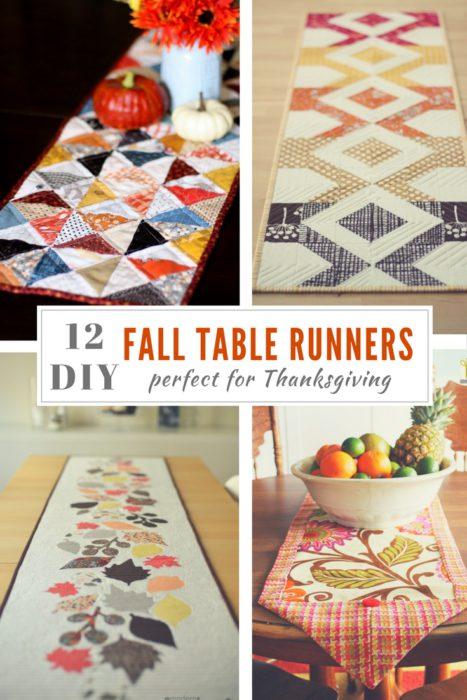 12 Fall Table Runner Ideas For Thanksgiving