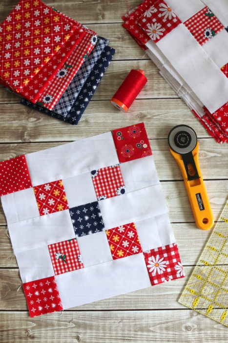 Irish Chain block tutorial - Diary of a Quilter - a quilt blog