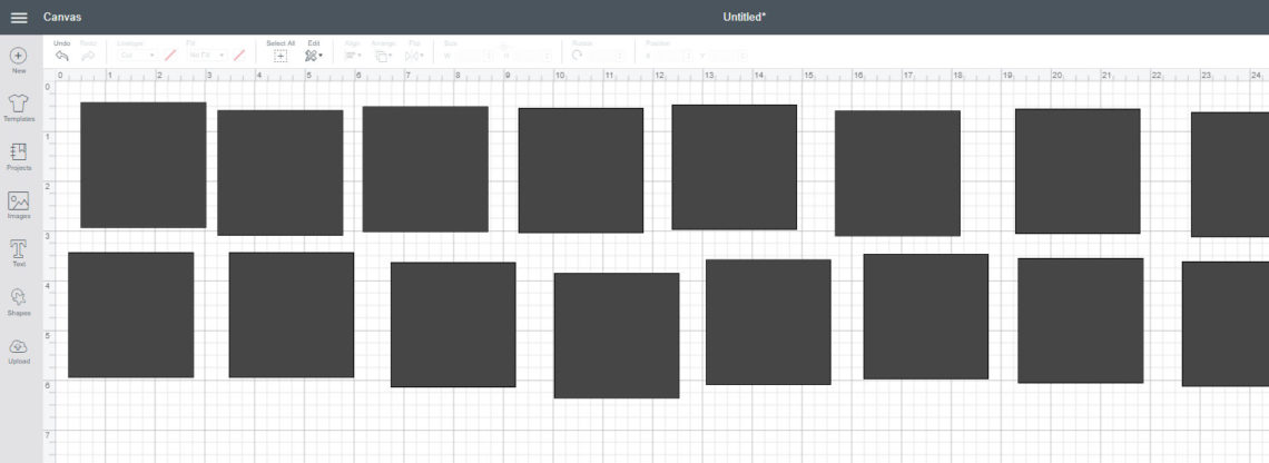 Cricut Design Space multi squares | Diary of a Quilter - a